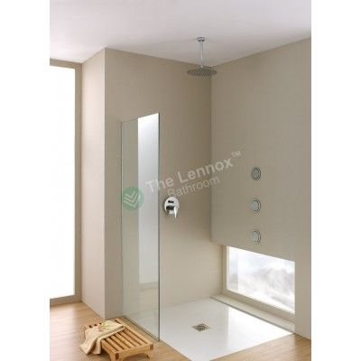 Shower Glass - Stream Series Side Panel (1170X1900mm)