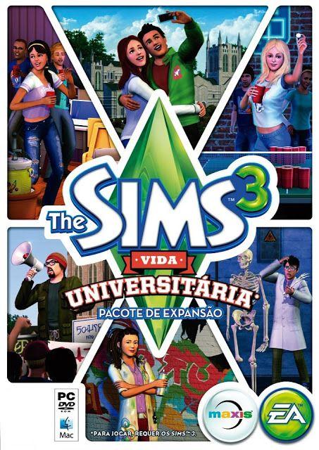 Simers BR: Download The Sims 3 Vida Universitária - TORRENT + CRACK + SERIAL