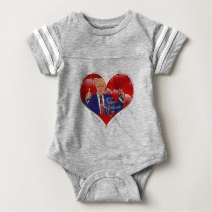 happy valentines day donald trump baby bodysuit - valentines day gifts love couple diy personalize for her for him girlfriend boyfriend