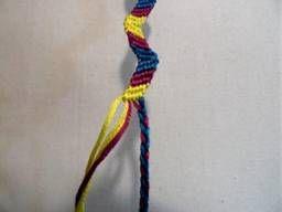 zig zag friendship  - Friendship Bracelet - embroidery floss bracelet - knotted bracelet
