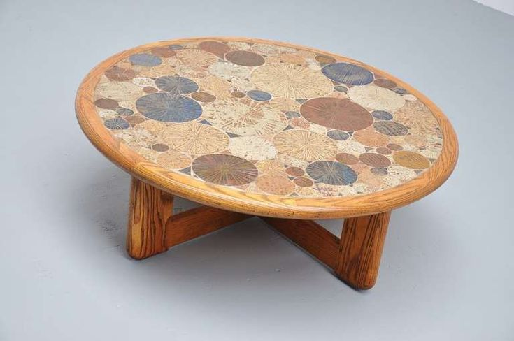 Tue Poulsen Ceramic Art Coffee Table, Haslev Denmark, 1963 image 2