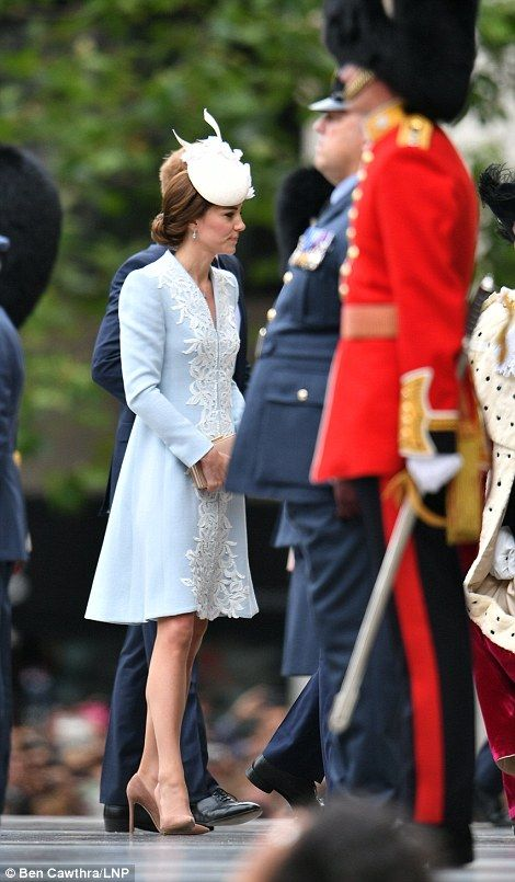 The Duchess of Cambridge and Prince Harry arrive for the Queen's birthday celebrations on June 10, 2016
