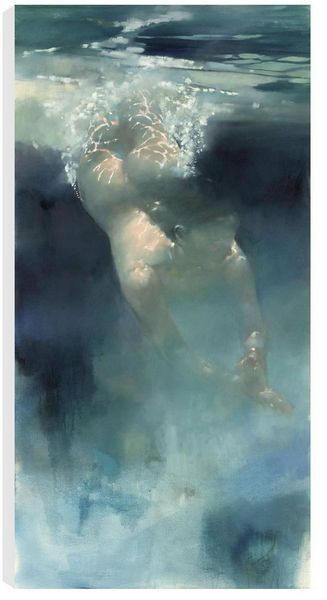 Into The Blue (Figurative) by Bill Bate, Chelmer Fine Art Galleries Buying and Selling Art Around The World, Exhibitions, CONTEMPORARY, DOGS, FIGURATIVE, FLORAL, HUMOUR, LANDSCAPE, MOTORSPORT, ORIGINALS, WILDLIFE