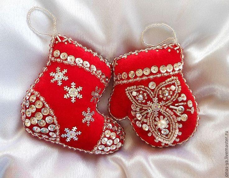 Купить Набор елочных игрушек «Счастливый Новый год» - ярко-красный, елочные игрушки