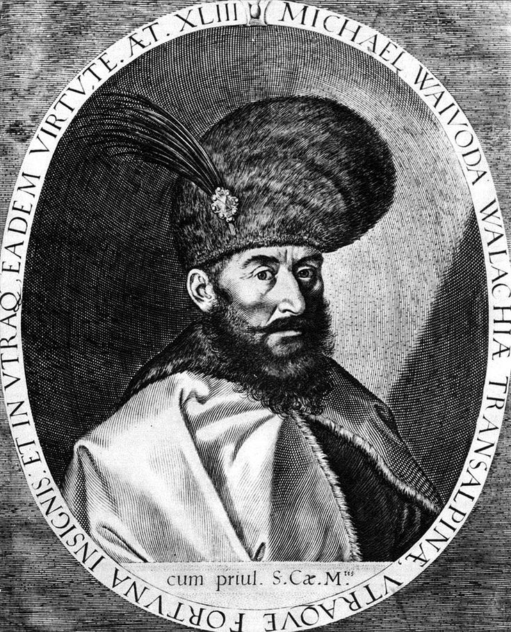 Michael the Brave was the Prince of Wallachia (as Michael II, 1593–1601), of Transylvania (1599–1600), and of Moldavia (1600). He united the three principalities under a single rule for a short period of time. During his reign, which coincided with the Long War, these three principalities forming the territory of present-day Romania and the Republic of Moldova were ruled for the first time by a single Romanian leader, although the union lasted for less than six months.