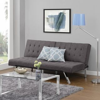Shop for DHP Emily Tufted Grey Linen Convertible Futon and more for everyday discount prices at Overstock.com - Your Online Furniture Store!