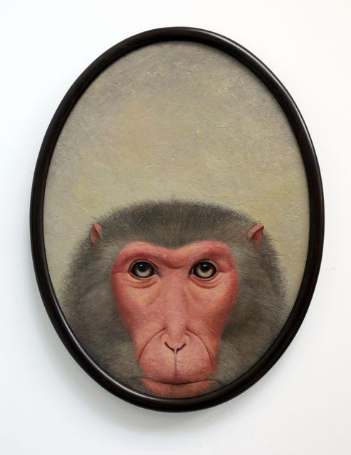 Shao Fan, Monkey Looking into the Mirror (Diptych) (2010)