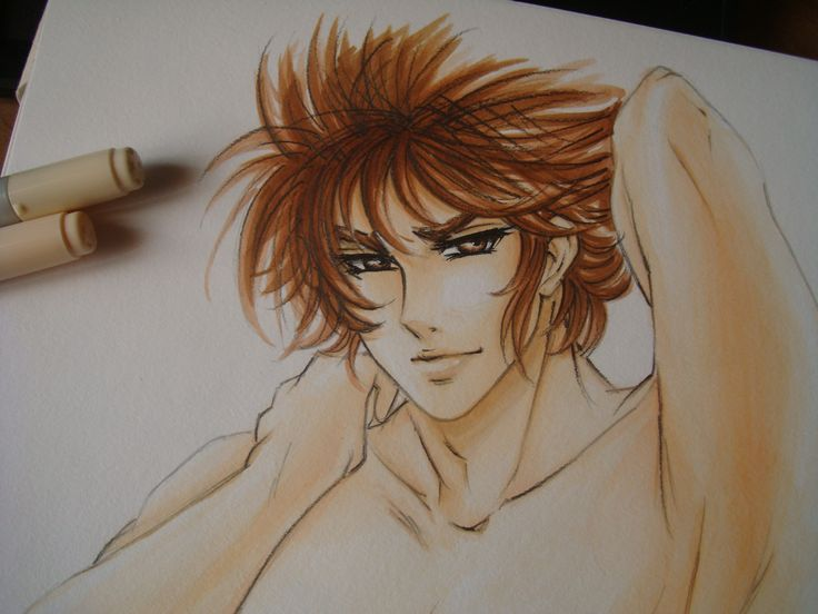 Sexy Seiya close up (only copic)