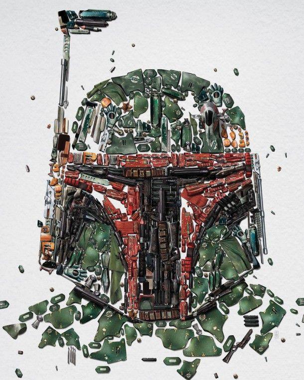 a agência Bleublancrouge criou esses incríveis cartazes com alguns ícones do universo Star Wars…