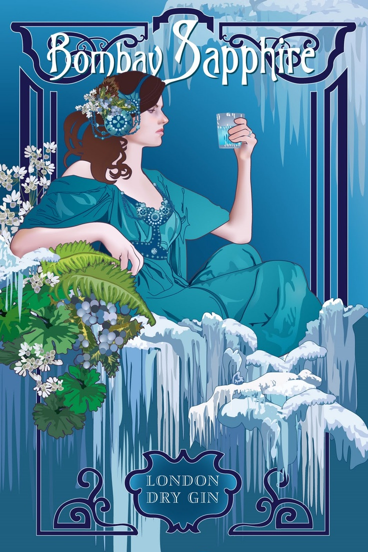 Blue Sapphire Gin Ad                                                                                                                                                      More