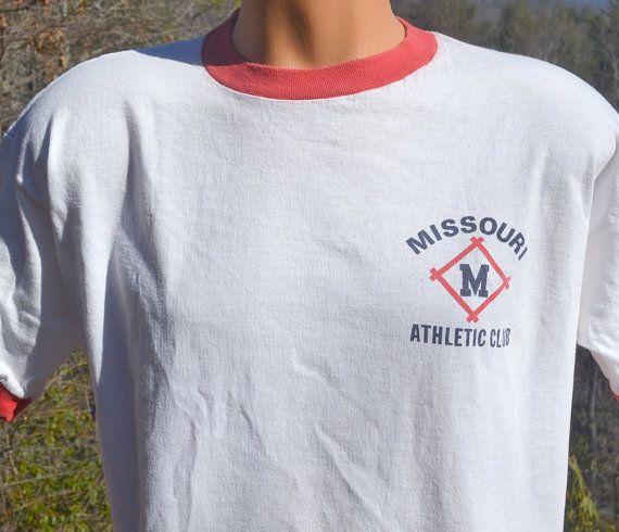 vintage 70s t-shirt MISSOURI ATHLETIC club mac by skippyhaha