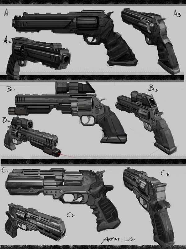 Weapon Concept work by chris wong, via Behance