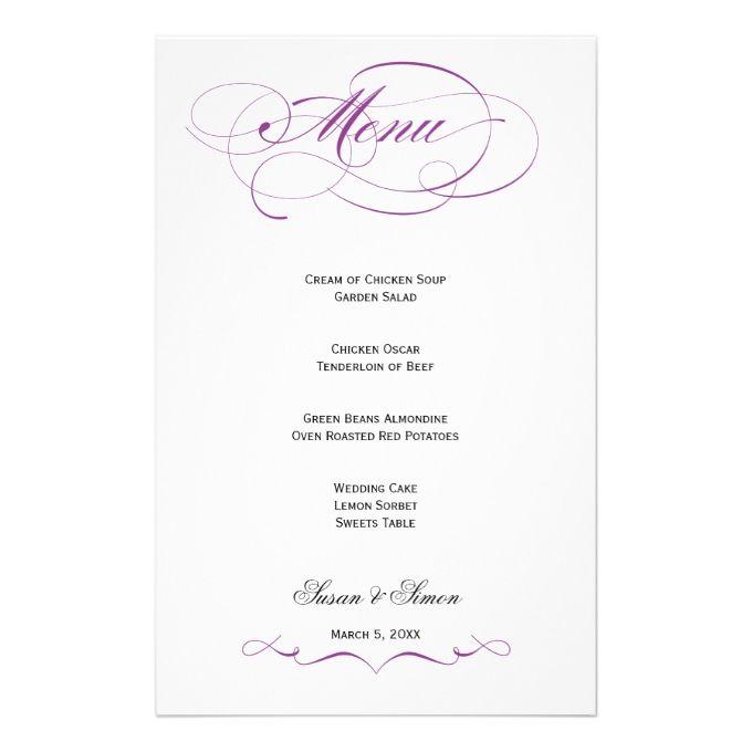 2481 best Wedding Menu Templates images on Pinterest Menu - sop templates