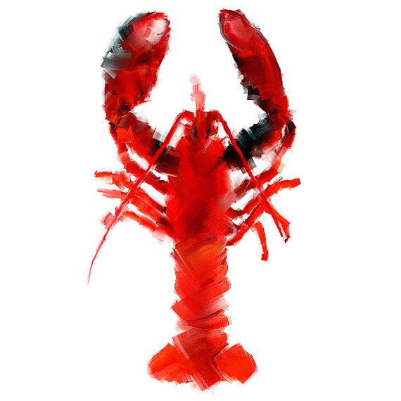Nephropidae   Lobster / Kitchen Fine Art Print   Kitchen Artwork   Kitchen  Decor / 20x20