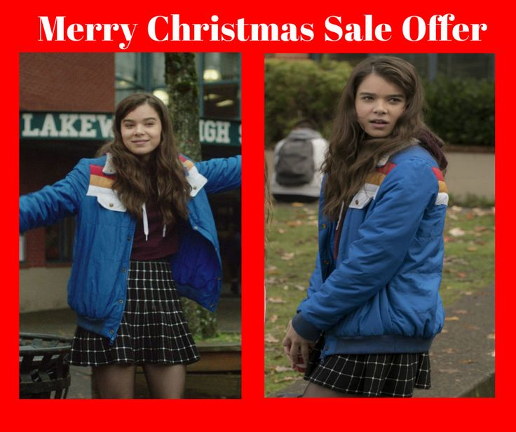 Beautiful Hailee Steinfeld who is an American actress and seen in this 2016 movie The Edge of Seventeen in which she played a charator of Nadine and worn this blue jacket that is could be your choice if you are a fan of Hailee Steinfeld.   #womenfashion #womenswear #female #girls #girlsnight #celebs #vintage #clothing #outfit #fashion #fashionblogger #fashionista #fashionable #onlineshopping #onlinemarketing #onlinestore #jacket #sale #geek #christmas #ideas #winter #holiday