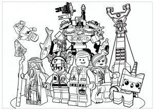 coloriage lego movie