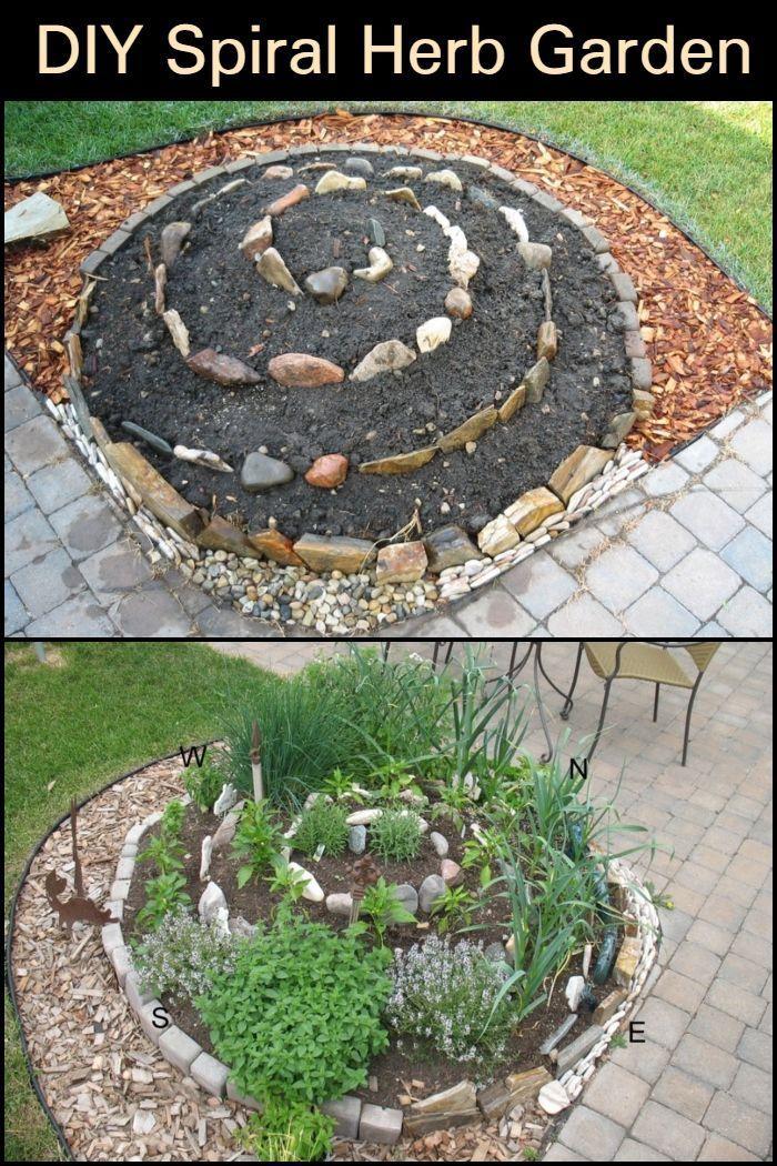 How To Make A Diy Spiral Herb Garden Backyard Herb Garden Herb Garden Herb Garden Design