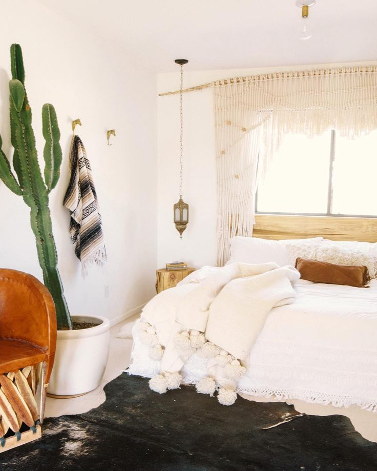 Bohemian House Bedroom Ideas Rental Property Moroccan