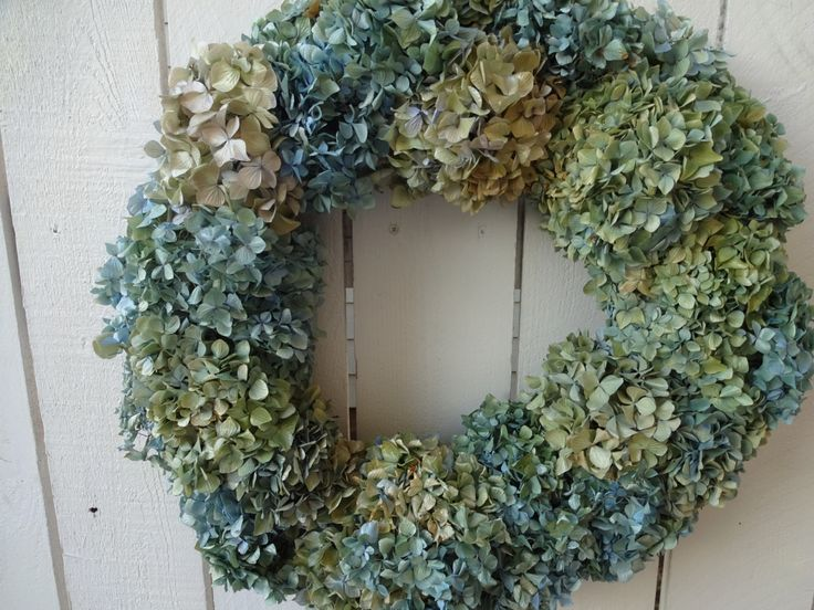 Hydrangea Wreath Shabby Chic Garden Wreath Dried Hydrangea Wreath Natural Wreath Wedding Wreath Home Decor Birthday Gift Door Wreath