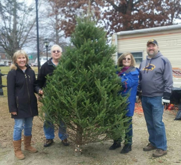 Some Townsend lions club members happy about a successful 2015 Christmas tree sale