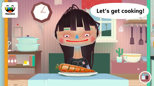Toca Kitchen 2 ($0.99) The wildly popular Toca Kitchen is back! With new guests to cook for, more tools to play with and new food combinations to test out, Toca Kitchen 2 invites all chefs to get messy and start playing! New ingredients in the fridge - New characters to feed - Stronger character reactions - Five kitchen tools to cook with - New juicer and oven - No rules or stress - just open-ended, kid-directed fun!