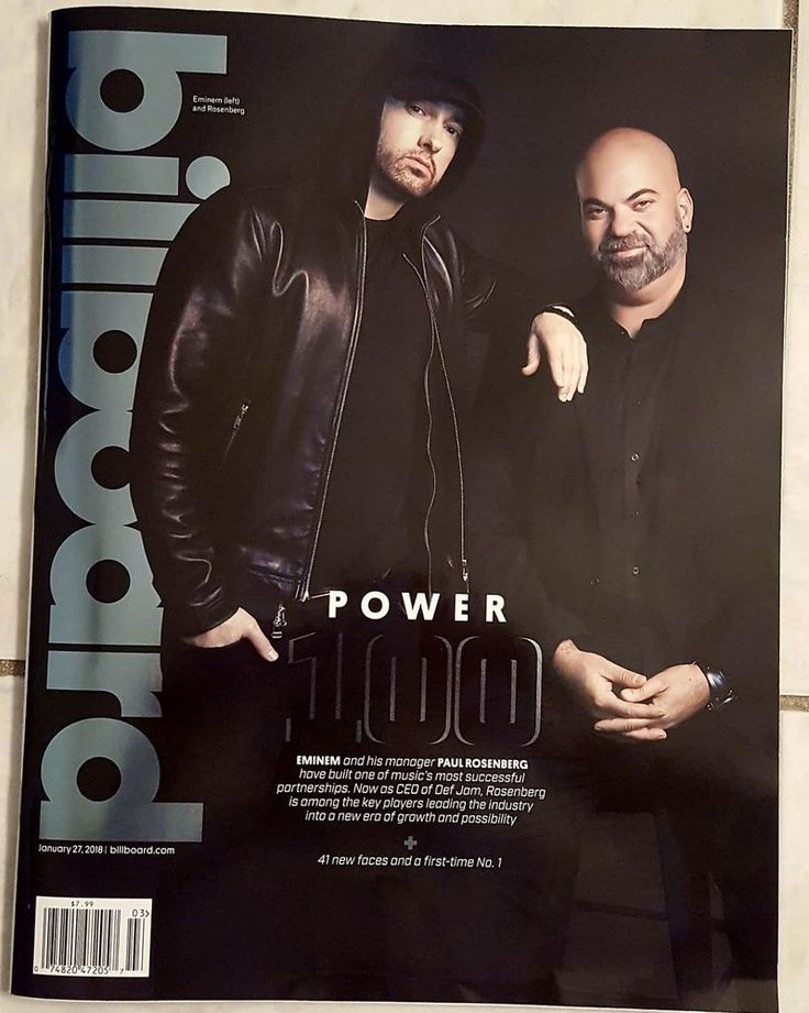 Billboard January 2018 Annual POWER 100 Eminem Paul Rosenberg CEO Def Jam Music