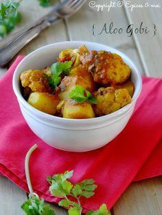 Epices & moi Aloo gobi { Curry indien de pommes de terre et chou-fleur } #YummyChouFleur