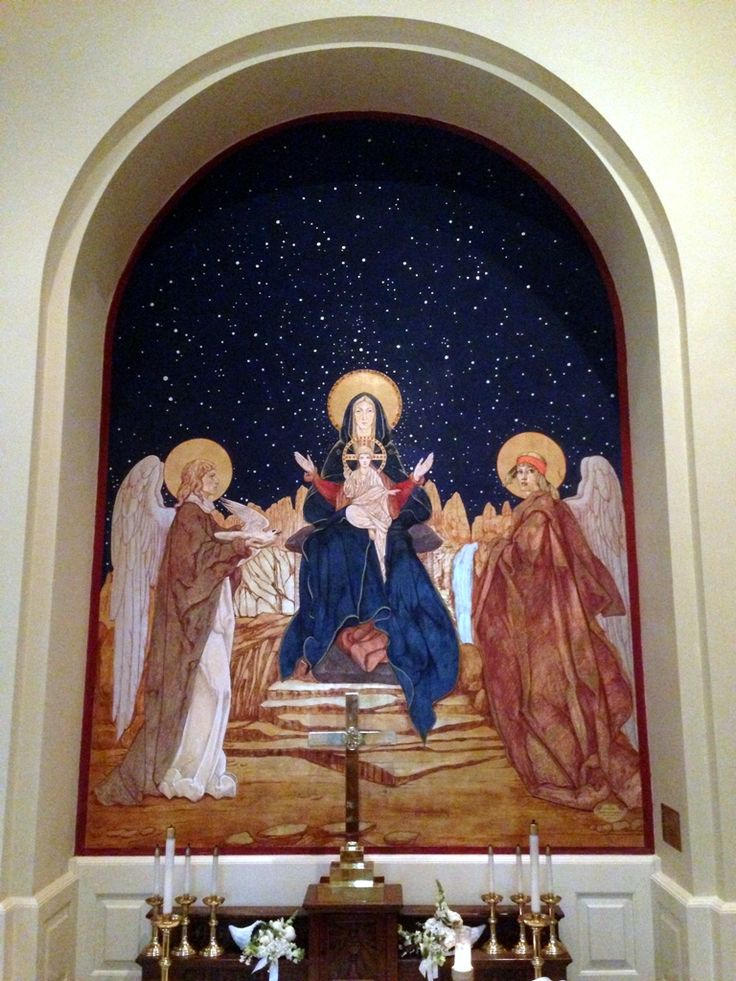 Holy Mother Enthroned - Jan Henryk de Rosen (February 25, 1891 – August 22, 1982)