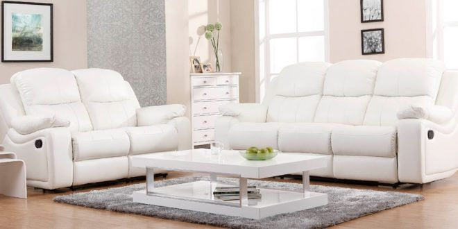Cool White Leather Recliner Sofa Set Fantastic White Leather
