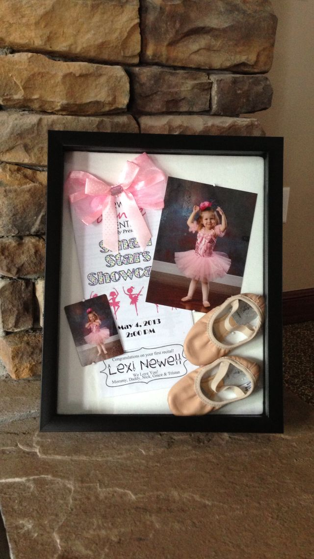 Kids shadow box. Made this for Lexi's first year of ballet.