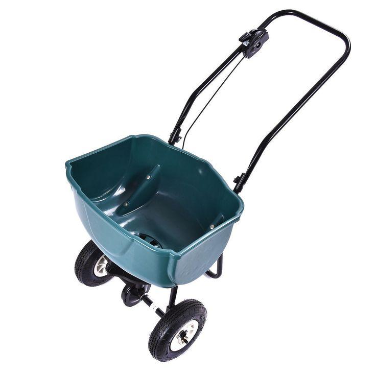 Seed Grass Spreader Fertilizer Broadcast Push Cart Lawn Garden Home Backyard - Lawn & Garden - Home & Garden