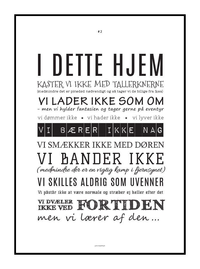 Husregler opsat som lækker typografisk plakat