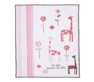 Ava Mod Giraffe Nursery Quilt