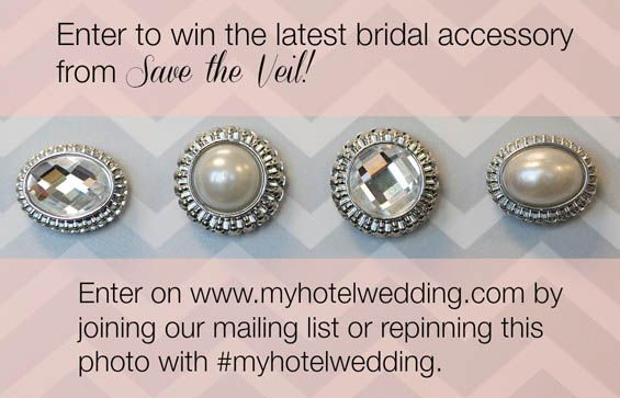 Announcing another giveaway for our MHW readers! Learn how to score chic decorative weights to secure your wedding veil from Save the Veil.