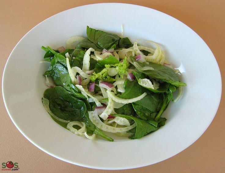 SOSCuisine: Salade de fenouil et épinards
