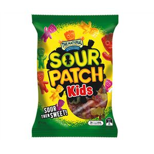 A bulk box of 20 bags of The Natural Confectionery Company Sour Patch Kids 220g Lollies.
