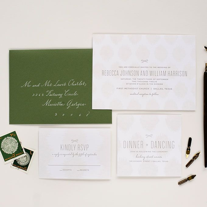 Brides: Winter Wedding Stationery | Wedding Ideas