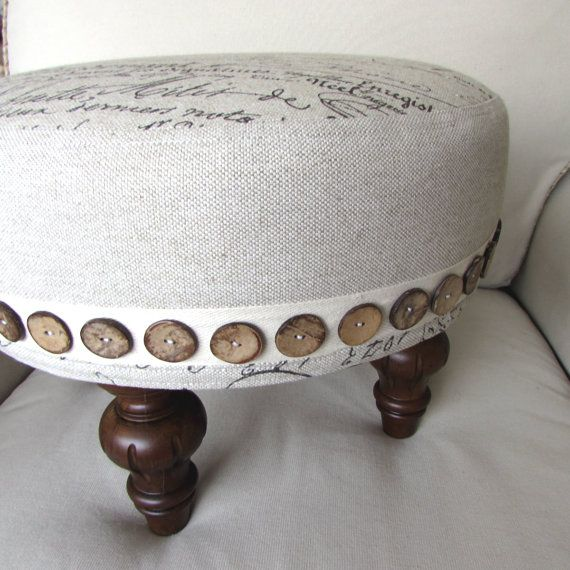 FRENCH TUFFET footstool/ottoman/tuffet/bench/seating by yiayias