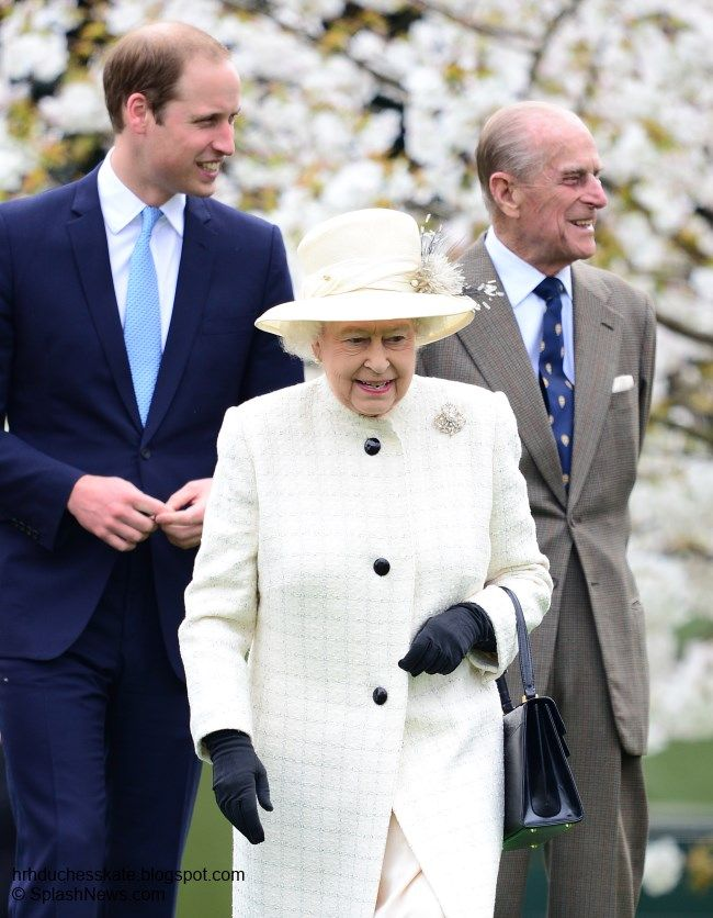 """William was out and about yesterday as he joined his grandparents The Queen and Prince Philip for a rare joint engagement as Her Majesty unveiled a bronze statue of two of her Windsor Grey horses, a breed that has been drawing the Monarch's carriages at State occasions since Queen Victoria's reign."""