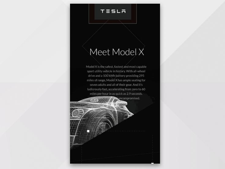 Tesla Model X For Mobile by UIUX Lab