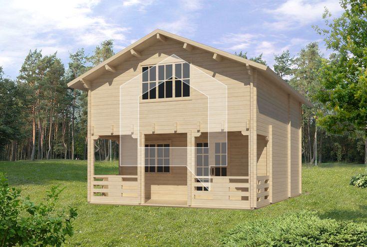 VVasarnīca Teteris 75 m2, Cena - € 13.319; Liela 2 stāvu koka māja Teteris ar 11,5 m2 terasi – moderna un gaiša, atšķīrās ar augstu kvalitāti, izturīgām sienām un stilīgu priekšnamu.