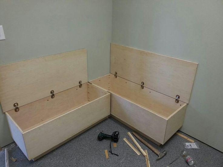 Bench/storage idea for the garage