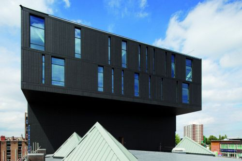 College of Technology in Stockport (UK) by Austin-Smith Lord, Liverpool – Contractor: Bell zinc & Copper Roofing on behalf of DBR Leadworks #Architecture #AnthraZinc #Education #UK #Façade #Zinc #VMZINC #Project #UnitedKingdom
