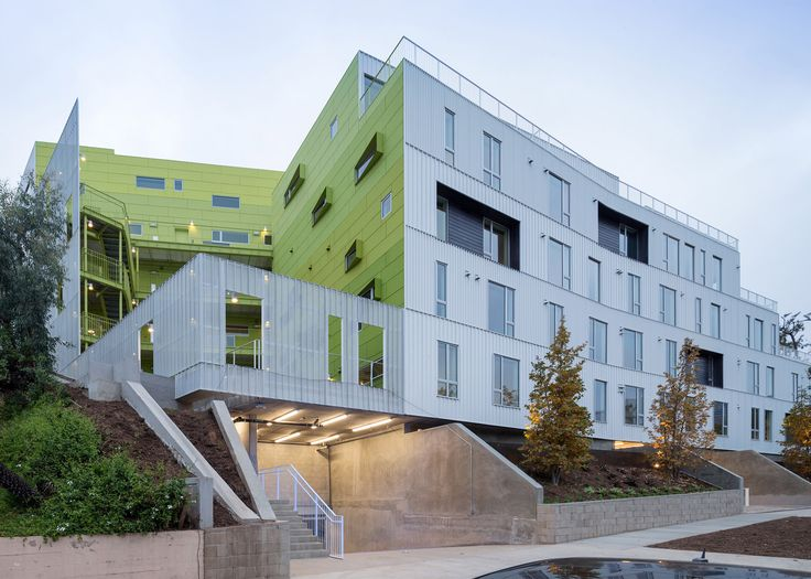 LOHA creates student apartments that step down an LA hillside