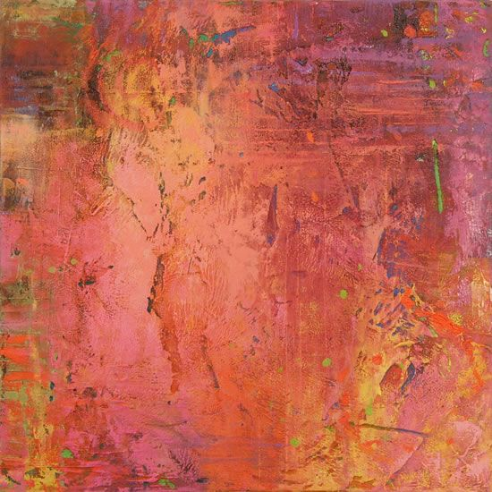 arrangement with pink ~ oil on panel ~ by jeannie sellmer