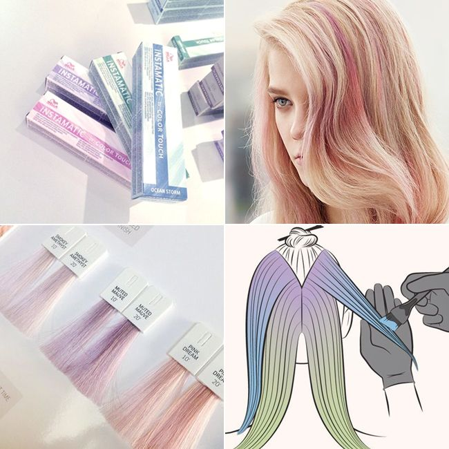 Мода на цветные пряди становится все более популярной! В этом сезоне стилисты марки Wella Professionals советуют варианты с мягкими и естественными переходами. Именно для достижения этого эффекта была разработана специальная техника окрашивания – патинирование. Для получения желаемого результата используется новая тонирующая крем-краска Color Touch Instamatic. Она представленная в шести оттенках – от бесцветного, который придает волосам блеск, до цвета морской волны и зеленого.