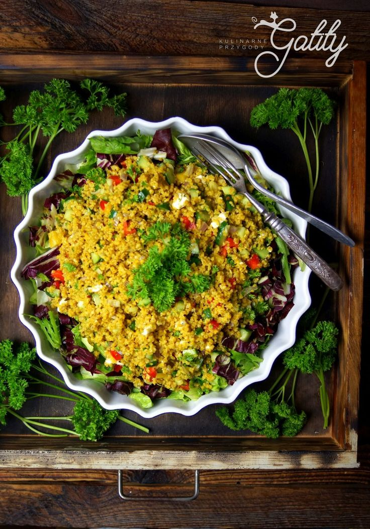 Kulinarne przygody Gatity - przepisy pełne smaku: Sałatka z bulguru ze świeżymi warzywami