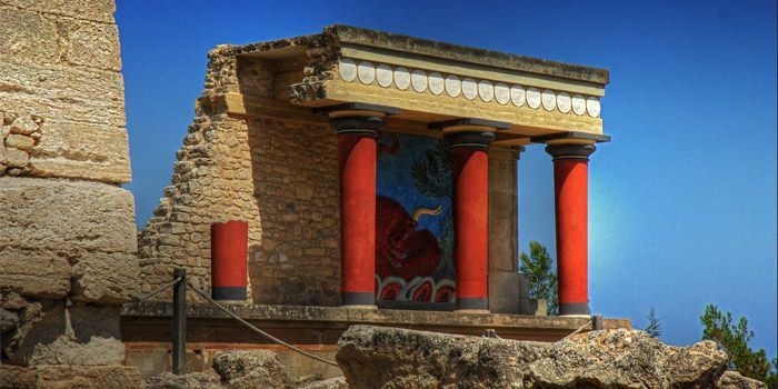 The Palace of Knossos in Heraklion, Crete