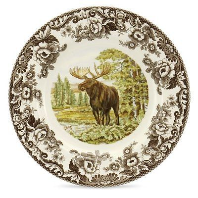 Spode-Woodland-Majestic-Moose-Dinner-Plate