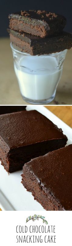 Cold chocolate snacking cake - Eat it straight from the fridge!